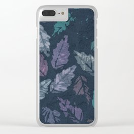 Abstract leaf painting Clear iPhone Case