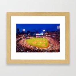 Home Field Advantage - Saint Louis Busch Stadium Framed Art Print