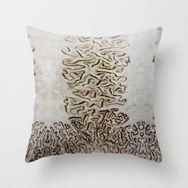 Skull lines I Throw Pillow