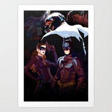 The darkest night Art Print