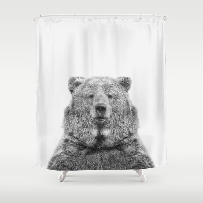 Bear European Shower Curtain