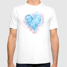Heart Stains White Mens Fitted Tee MEDIUM