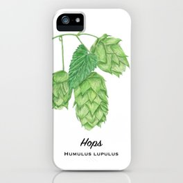 Beer Hops Botanical Painting iPhone Case