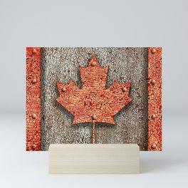 Rusty Maple Leaf. Mini Art Print