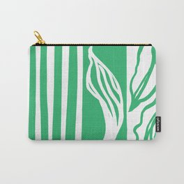 Long Leaf Stripe green Carry-All Pouch