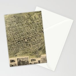 Map Of Alexandria 1862 Stationery Cards