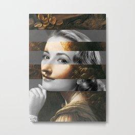 Leonardo's Angel (Virgin of the Rocks) & Grace Kelly Metal Print