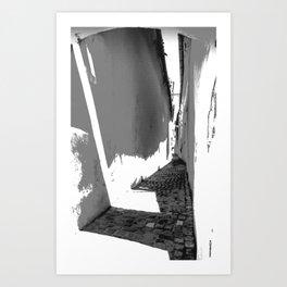 STRICK Strasse1 Art Print