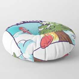 Santa Claus Stupid Tree Playing Disc Golf Floor Pillow