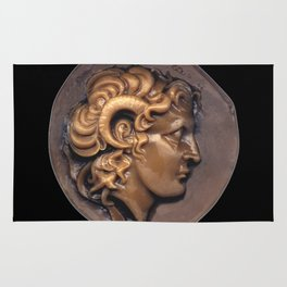 Alexander the Great - Greek Warrior in Bronze Rug