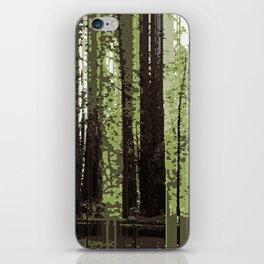 Northern California Redwood Forest Pixelart iPhone Skin