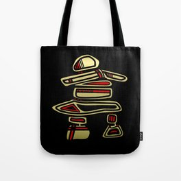 Tribal Inuksuk Stone Totem Figure Tote Bag