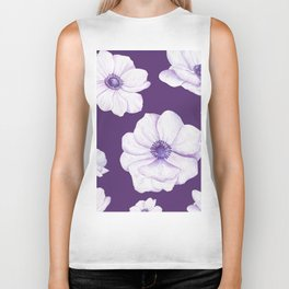 Anemones 2 Purple #society6 #buyart Biker Tank