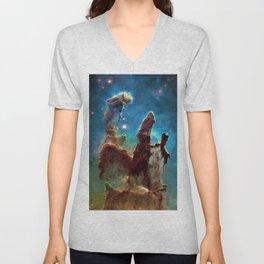 Eagle Nebula's Pillars Unisex V-Neck