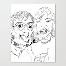 Yearbook Faces Canvas Print