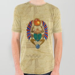 Sarcophagus 3d Egyptian Folk Art All Over Graphic Tee