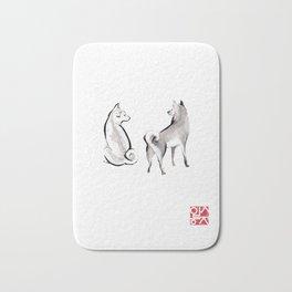 Two Shiba Inu Couple Badematte