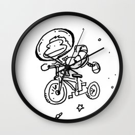 Space Ape Rides a Bicycle Wall Clock