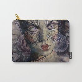 A WOMAN'S FACE WEARS MANY MASKS Carry-All Pouch