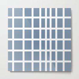 The Modern Square - Faded Denim Metal Print