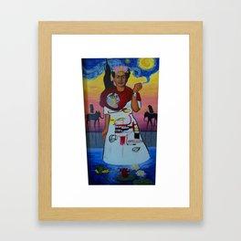 Frida-Basquiat-Van Gogh-Keith Haring-Claude Monet-Dali-Picasso Mesh Framed Art Print