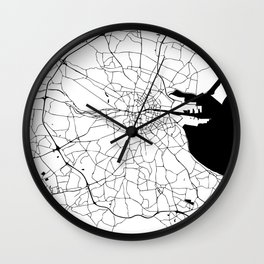 Dublin Minimal Map Wall Clock
