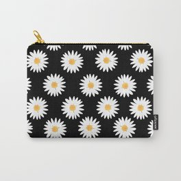 Daisy black pattern Carry-All Pouch