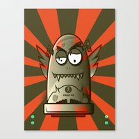 the fault Canvas Prints featuring Fault 45 01 (its not his fault) by Face Leakage