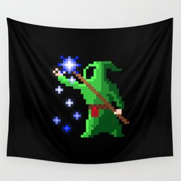 wizard green Wall Tapestry