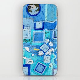 Blue Room with Blue Frames iPhone Skin