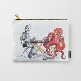 Robot Octopus Coffee Date Carry-All Pouch