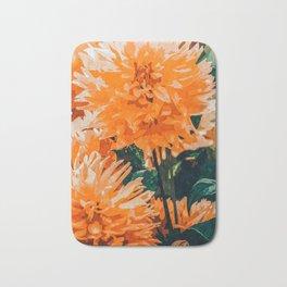 Coral Floral Bath Mat