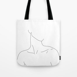 Neckline collar bones drawing - Gwen Tote Bag