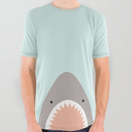 shark attack All Over Graphic Tee