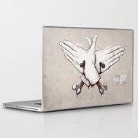 rap Laptop & iPad Skins featuring Rap Won't Save You by Davies Babies