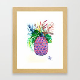 Pina Pineapple Ananas Framed Art Print