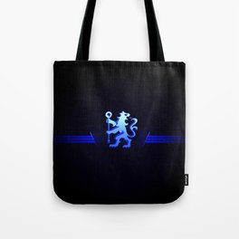football team with its oversized color blue Tote Bag