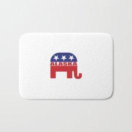 Alaska Republican Elephant Bath Mat