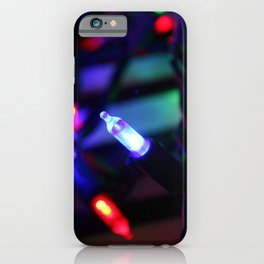 Christmas Lights on Books iPhone Case