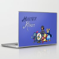 allison argent Laptop & iPad Skins featuring PokeWolf: Allison Argent by Trickwolves