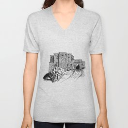 shadow at the top of the hill Unisex V-Neck