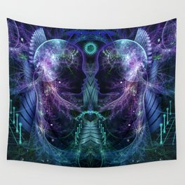 Dawn is Late - Fractal Manipulation Wall Tapestry