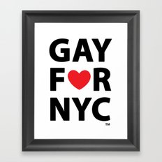 Gay For NYC Framed Art Print