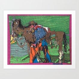 One of a Kind Cowboy Art Print