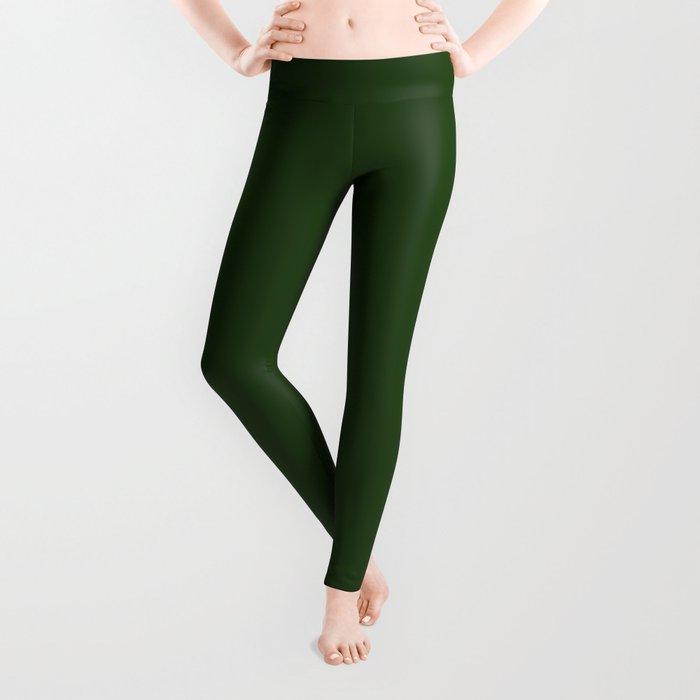 Dark Forest Green Color Leggings