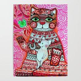 Mascot cat Poster