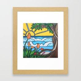 Love Tree Surf Art by Lauren Tannehill Art Framed Art Print