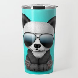 Cute Baby Panda Wearing Sunglasses Travel Mug