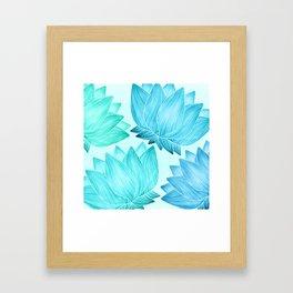 Lotus Love II / Zen Teal Palette Framed Art Print