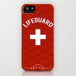 Lifeguard, Life guarding, Coast Guard, Beach , Baywatch iPhone Case